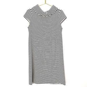 Kate Spade Striped Cowl Blaise Buttoned Dress